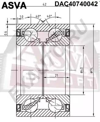 подшипник ступицы передней = COROLLA 120 = AVENSIS 03- (40x74x42x42)
