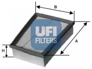 Фильтр воздушный, UFI, 3041700
