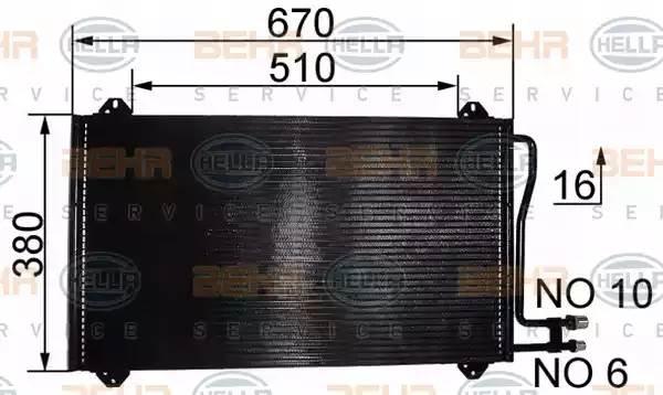 Радиатор кондиционера CDI