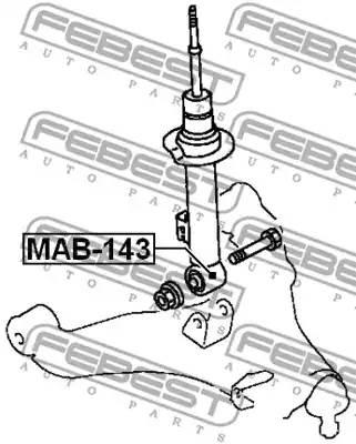 Втулка передн амортизатора PAJERO SPORT, CHALLENGER KH# 2008- MAB-143