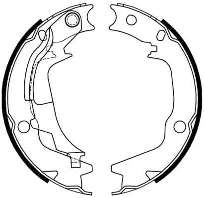 колодки задние барабанные
