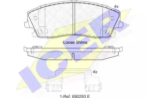 Тормозные колодки передние Крайслер 300 С