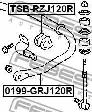 4881510090/ TSBRZJ120R Втул/стаб заднего Febest