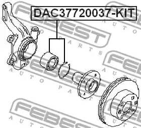 Подшипник ступицы передней DAC37720037KIT