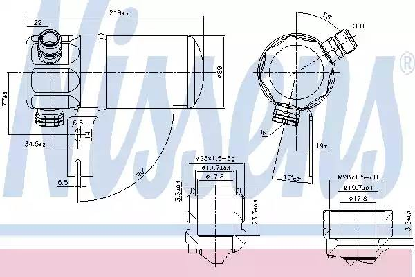 Осушитель кондиционера AUDI A8 (4D2, 4D8) [2000 - 2002] NISSENS 95263