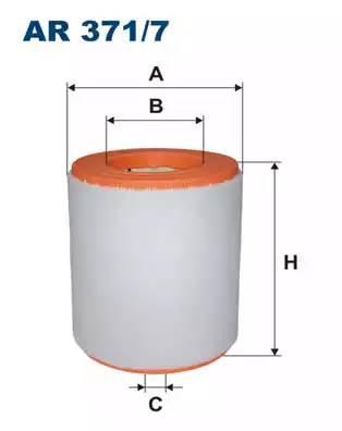 Фильтр воздушный, FILTRON, AR3717
