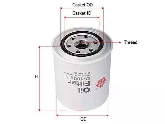 Фильтр масляный (10) L200 NEW SAKURA
