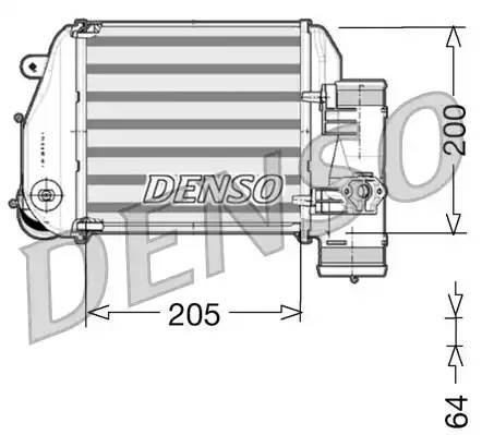 Интеркулер, DENSO, DIT02024