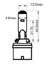Лампа галоген' H27' 12В 27Вт, 1шт