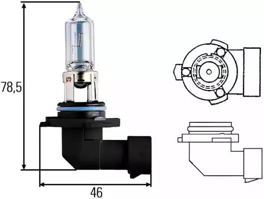 Лампа HB3 галогенная  60W