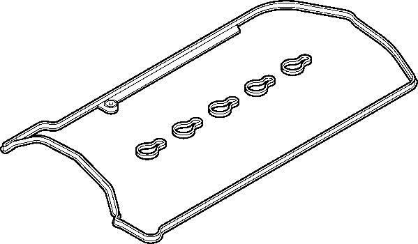 Прокладка клапанной крышки 612 с кольцами колодцев