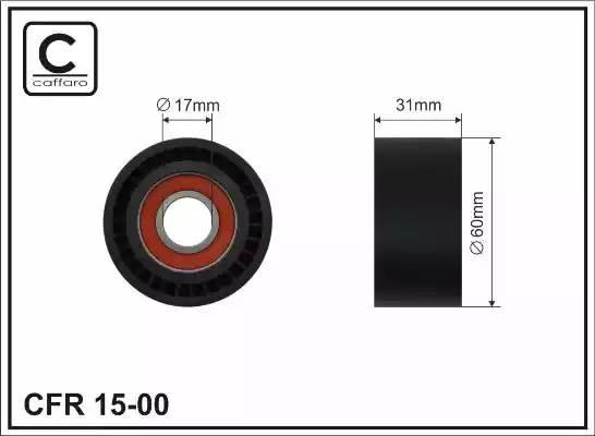 ролик ремня приводного натяжной 2,0 65*17*30 (только ролик)