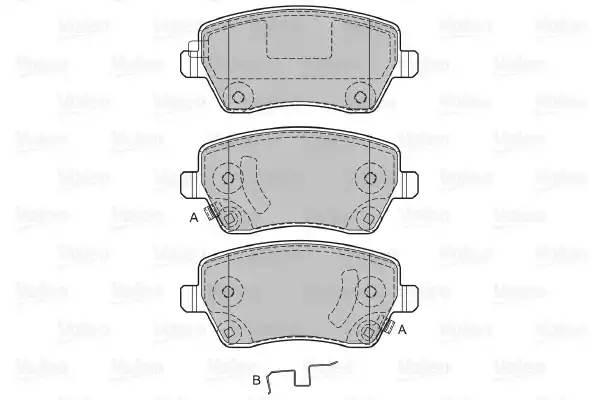 Колодки тормозные передние Renault Logan, Largus с АБС Valeo (598641)