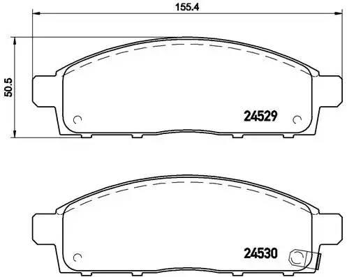 колодки тормозные передние MISUBISHI L200 05-, PAJERO SPORT 08-