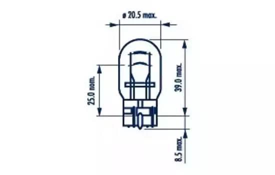Narva W21/5W Standart W3x16q 1шт.