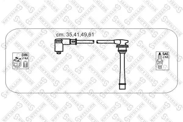 10-38412-SX комплект проводов Hyunday Lantra/Coupe 1.6i/1.8i/2.0i 95-02