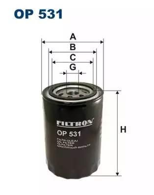 Фильтр масляный, FILTRON, OP531