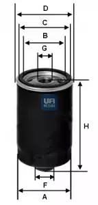 Фильтр масляный,UFI, 2346200