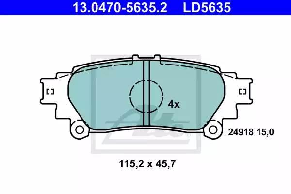 Колодки дисковые, ATE, 13047056352