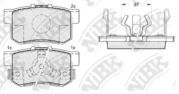Колодки тормозные задние HONDA ACCORD 2.0-2.4 АКПП 2008- :: NIBK PN8807