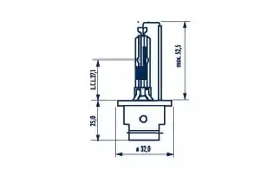 Лампа D2R 85V 35W P32d-3