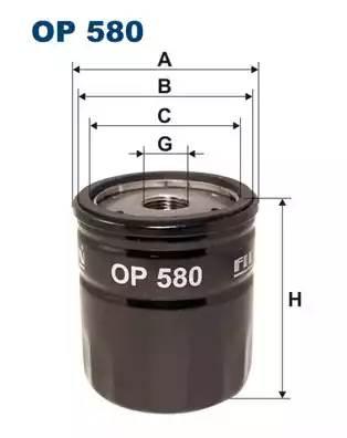 Фильтр масляный, FILTRON, OP580