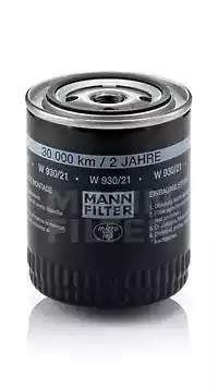Фильтр масляный, MANN, W93021