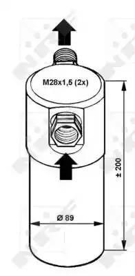 Осушитель кондиционера AUDI A6 (4B, C5) [2000 - 2005] NRF 33081