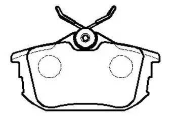Колодки тормозные задние (87*47) COLT 1.3 2004-