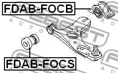FDAB-FOCS сайлентблок рычага пер. Ford Focus 1.4-2.0/1.8TDi 98