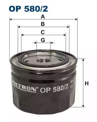 Фильтр масляный, FILTRON, OP5802