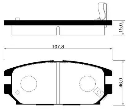 Колодки тормозные задние дисковые (108*46)