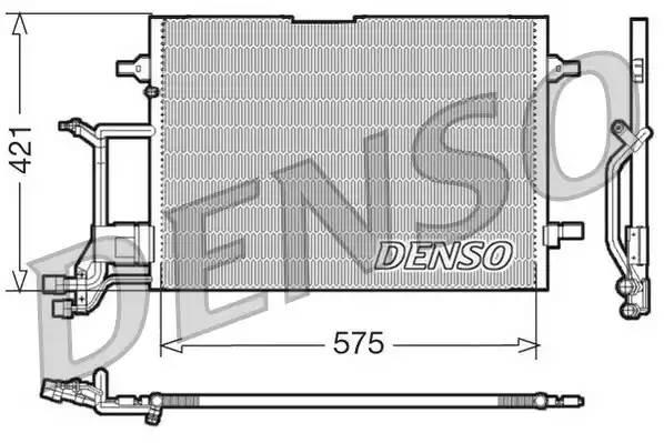 Радиатор кондиционера AUDI A4 (8D2, B5) [2000 - 2000] DENSO DCN32016