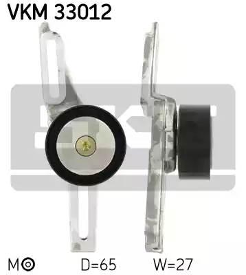 Ролик натяжной ремня генератора, SKF, VKM33012