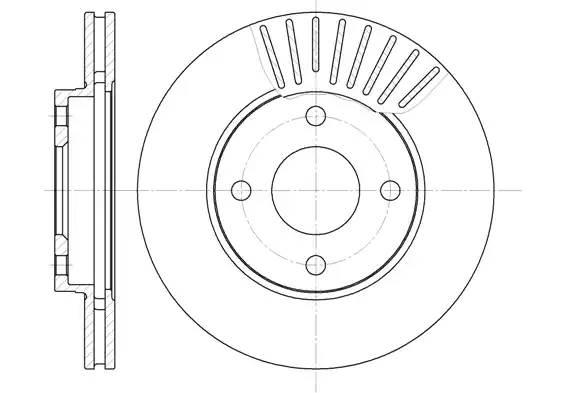 диск тормозной передний (258x22) вентилируемые = FOCUS 1