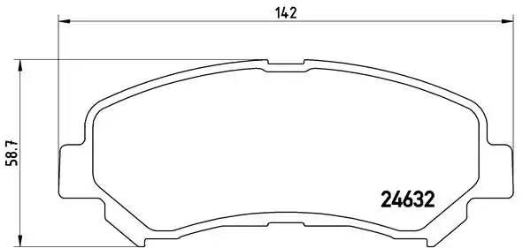 P56062 1318 00 [D1060JD00A] колодки дисковые п. Nissan Qashqai 1.6-2.5i/1.5-2 p56062