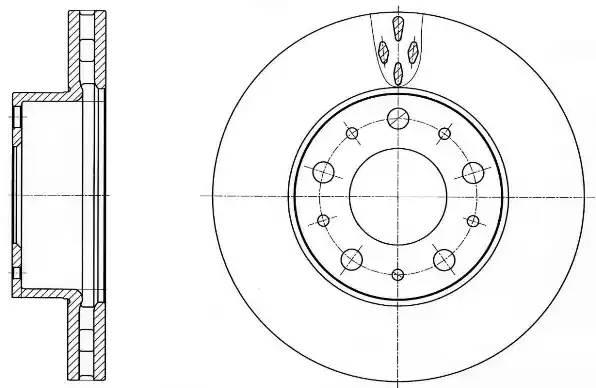 диск тормозной передний R15 280x28