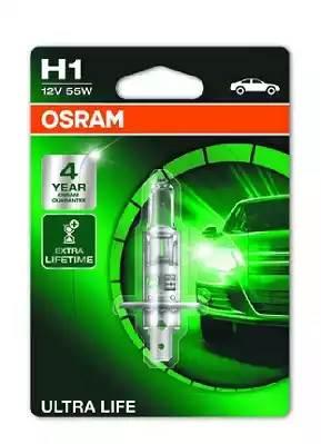 Лампа накаливания, 'ULTRA LIFE H1' 12В 55Вт, 1шт