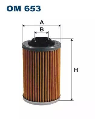 Фильтр масляный, FILTRON, OM653