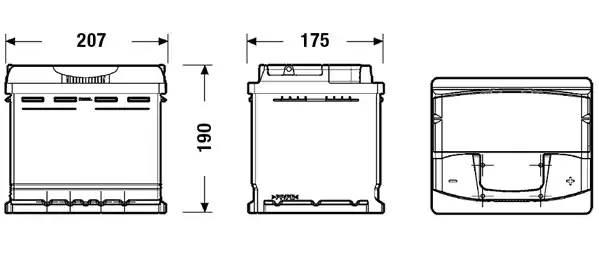 """Батарея аккумуляторная """"Premium"""", 12в 53а/ч - 53"""