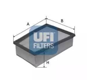 Фильтр воздушный, UFI, 3040700