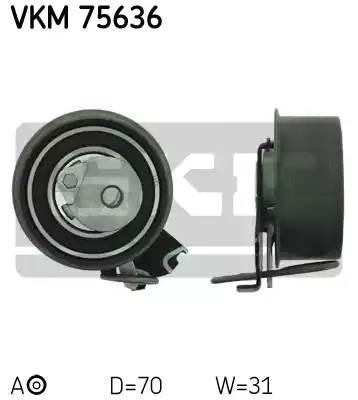 Ролик натяжной, SKF, VKM75636