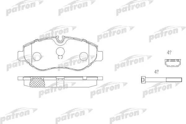 Колодки тормозные передние 906 309-315CDI Viano
