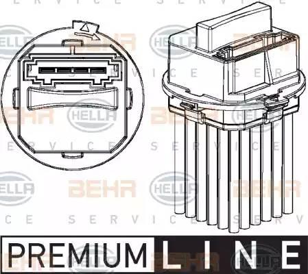 Резистор печки 906 с кондиционером