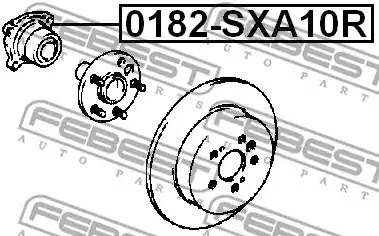 4350252010/ 0182SXA10R  СТУПИЦА Febest