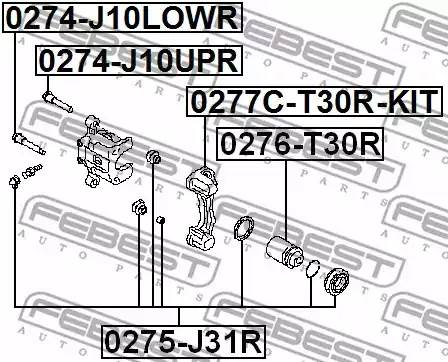 0274-J10UPR направляющая скобы суппорта Nissan Juke F15 10 0274j10upr