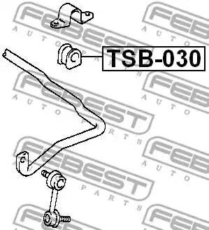4881542040/ TSB030 Втулка стаб. пер. внутр. Febest