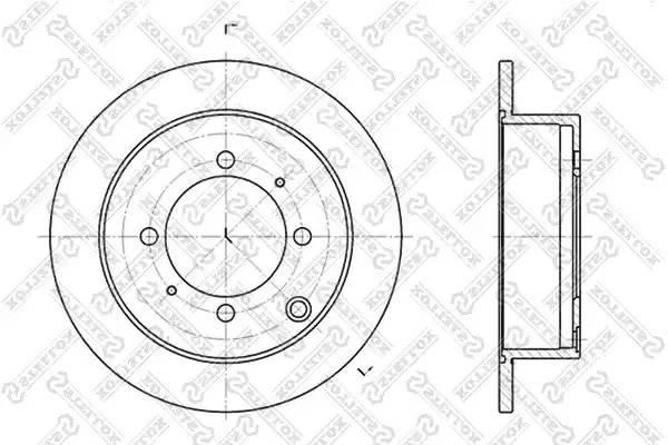 диск тормозной задний MITSUBISHI LANCER 9 03-07