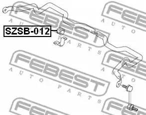 SZSB012 втулка стабилизатора центральная Suzuki Liana 01>/Baleno SY416 95