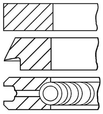 Комплект поршневых колец AUDI TT Roadster (8N9) [2000 - 2006] GOETZE ENGINE 08-502900-00